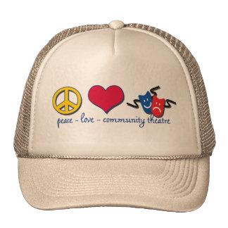 Peace Love Community Theatre Mesh Hats