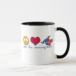 Peace Love Community Theatre Mug