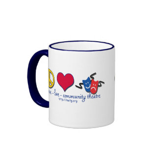 Peace Love Community Theatre Mugs