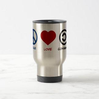 Peace Love Community Travel Mug