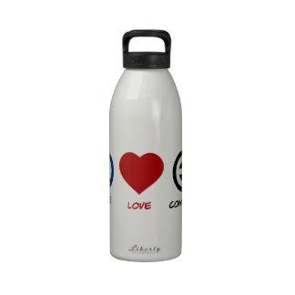 Peace Love Community Reusable Water Bottles