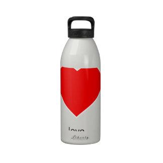 Peace Love Community Reusable Water Bottle