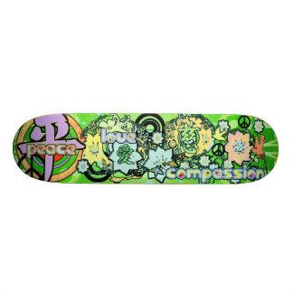 Peace-Love-Compassion-Kanji - - Skate Board Deck