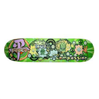 Peace-Love-Compassion-Kanji - - Skate Deck