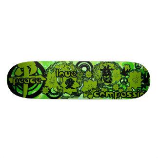 Peace-Love-Compassion-Kanji Custom Skate Board