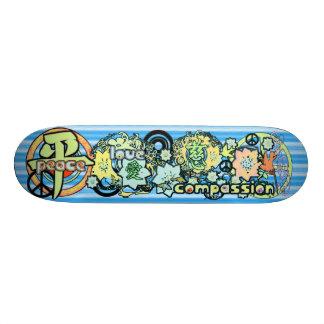 Peace-Love-Compassion-Kanji - - - Skateboard