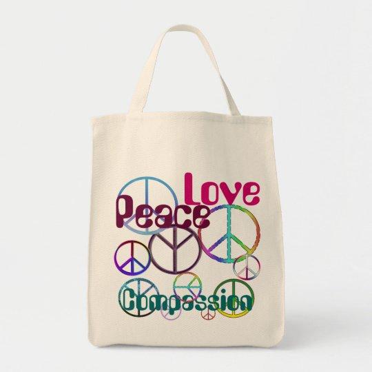 Peace Love Compassion Tote
