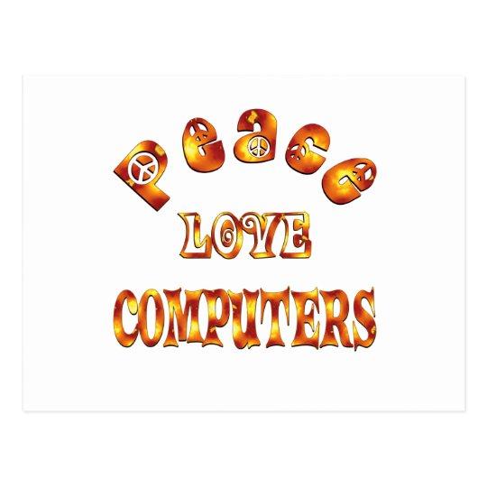 PEACE LOVE COMPUTERS POSTCARD