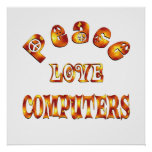 PEACE LOVE COMPUTERS POSTERS