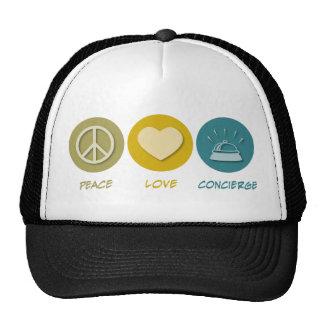 Peace Love Concierge Trucker Hat