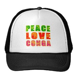 Peace Love Conga Hat