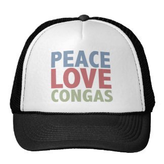 Peace Love Congas Hat