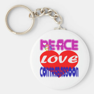Peace Love Contra bassoon Keychain