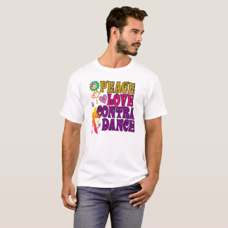 Peace Love & Contra Dance T-Shirt