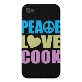 Peace Love Cook iPhone 4/4S Cover