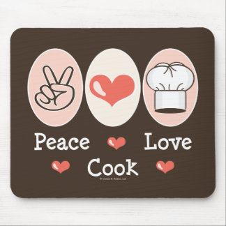 Peace Love Cook Mousepad