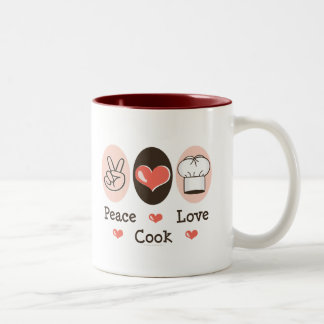 Peace Love Cook Mug