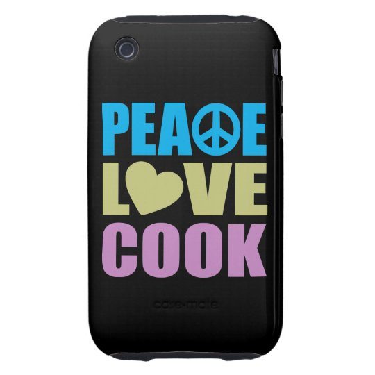 Peace Love Cook Tough iPhone 3 Cover