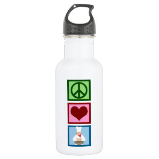 Peace Love Cook Water Bottle