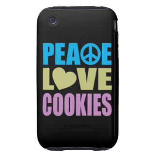 Peace Love Cookies iPhone 3 Tough Cases