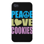Peace Love Cookies Case For iPhone 4