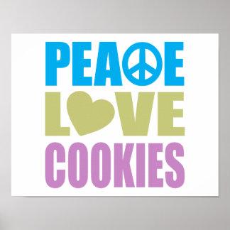 Peace Love Cookies Posters