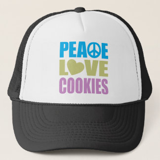 Peace Love Cookies Trucker Hat