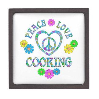 Peace Love Cooking Keepsake Box