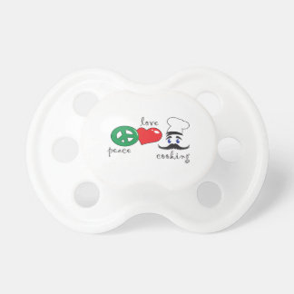 PEACE LOVE COOKING BooginHead PACIFIER