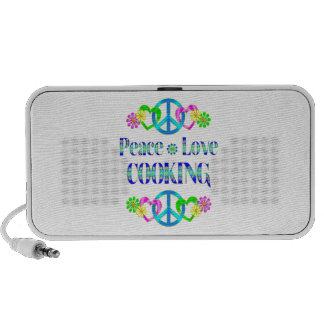 Peace Love Cooking Mp3 Speakers