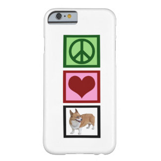 Peace Love Corgis Barely There iPhone 6 Case