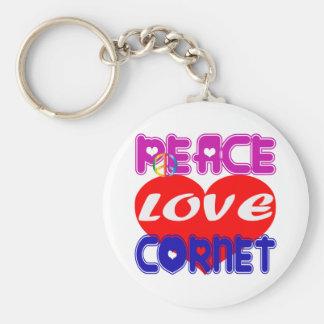 Peace Love Cornet Keychain