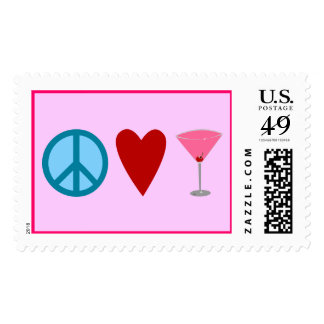 Peace, Love, Cosmopolitan Postage