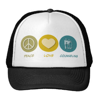 Peace Love Counseling Trucker Hats