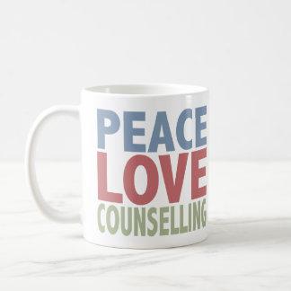 Peace Love Counselling Coffee Mug