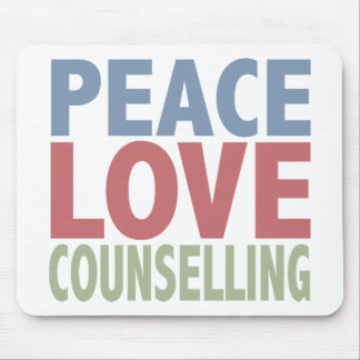 Peace Love Counselling Mouse Pad