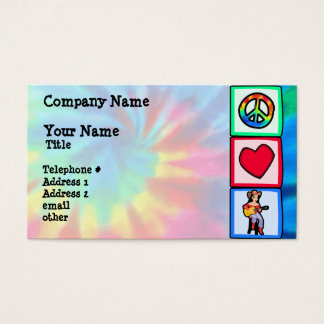 Peace, Love, Country Music Business Card