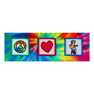 Peace, Love, Country Music Poster
