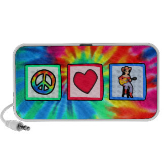 Peace, Love, Country Music Portable Speakers