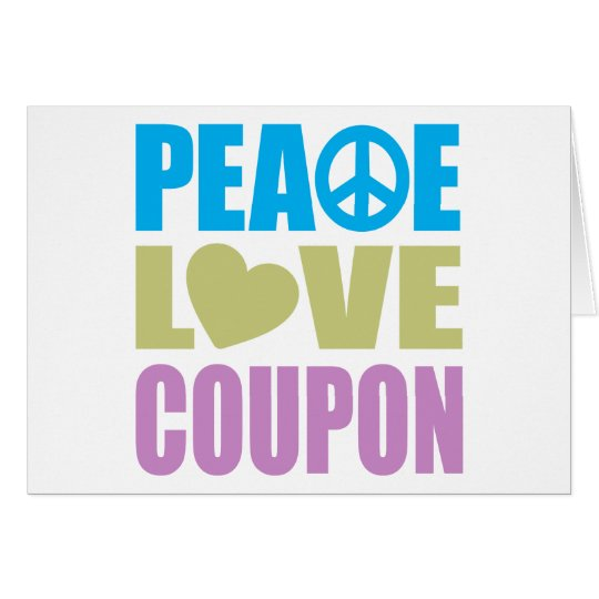 Peace Love Coupon Card