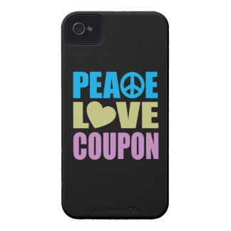 Peace Love Coupon iPhone 4 Cover