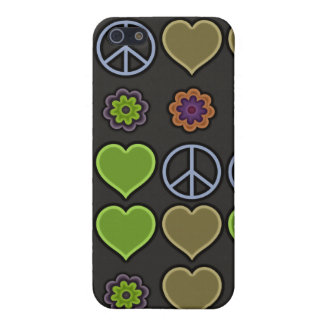 PEACE & LOVE COVER FOR iPhone SE/5/5s