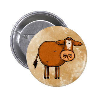 peace love cow 2 inch round button