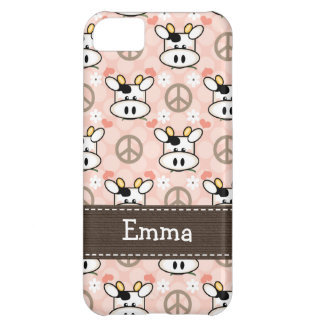 Peace Love Cow Cover For iPhone 5C