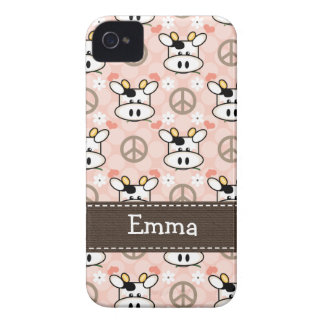 Peace Love Cow iPhone 4 4s Case-Mate Cover
