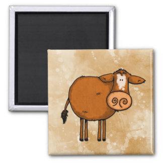 peace love cow magnet
