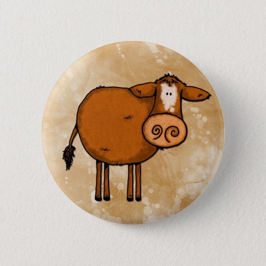 peace love cow pinback button