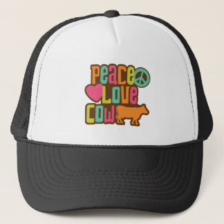 Peace Love Cow Trucker Hat