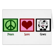 Peace Love Cows Card