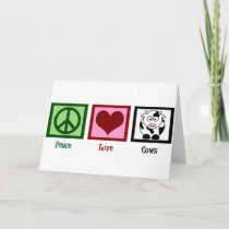 Peace Love Cows Holiday Card
